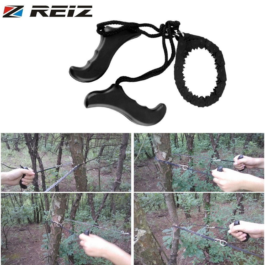 REIZ Multifunction Hand Tool Gear Pocket Chain Saw Hand Saw Chain Outdoor Emergency Survival Tool Camping Hiking ChainSaw