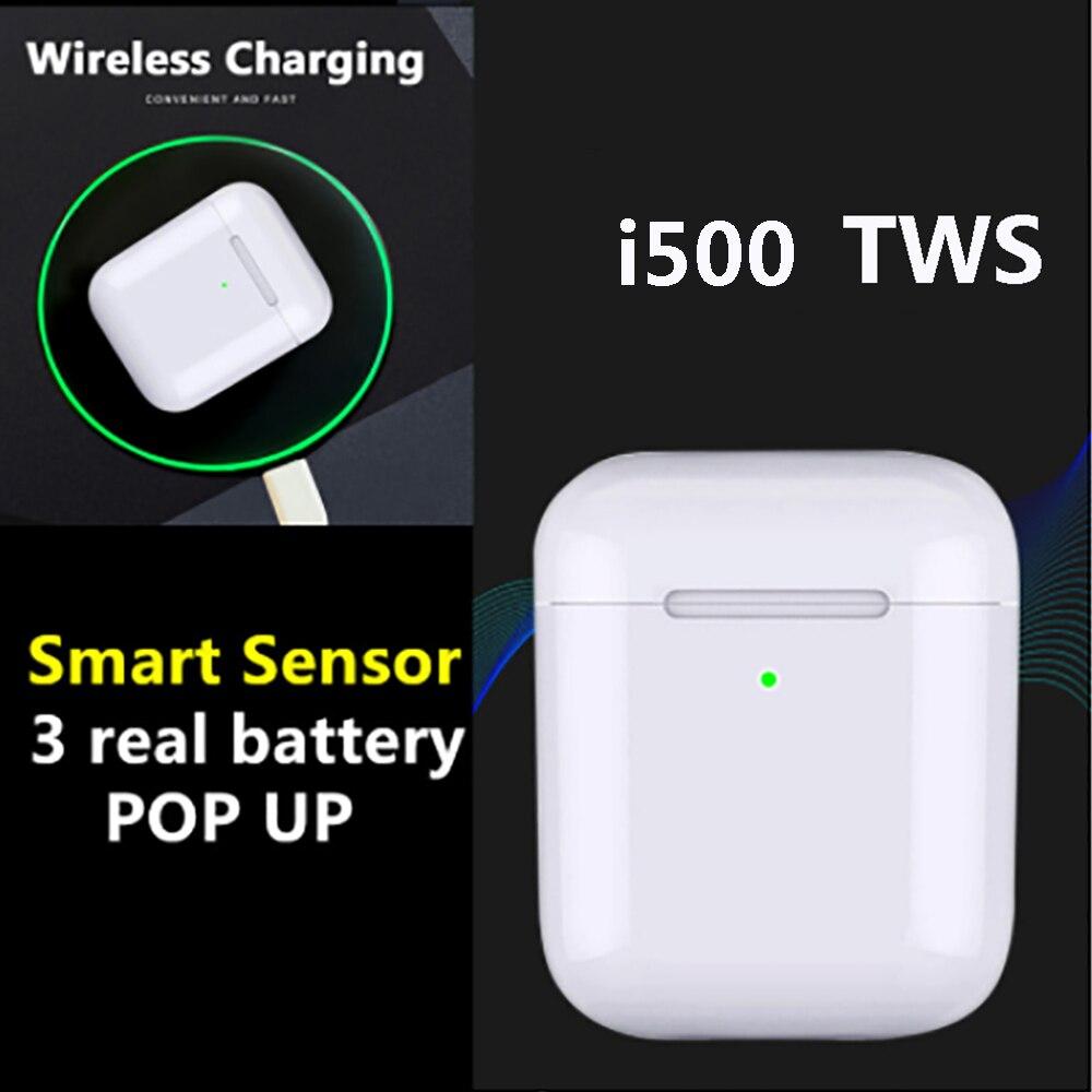 I500 tws arie sensor inteligente fone de ouvido sem fio 8d super som fones pop-up bluetooth 5.0 fone de ouvido pk i30 i60 i100 i200 tws