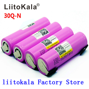 Image 1 - Litokala オリジナル 18650 バッテリー INR18650 30Q 20A 3000mah 放電リチウムイオン充電式 18650 バッテリー
