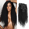 Indian Remy Human Hair Black Afro Kinky Curly Clip In Hair Extensions 10 PCS/Set 200G Handmade Hair Extensions For Sexy Women