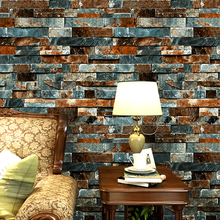 цена на Vintage Brick Wallpaper for Walls 3 d Loft Wall Murals Vinyl PVC Wallpaper Roll Waterproof Wall Paper for Walls papier peint