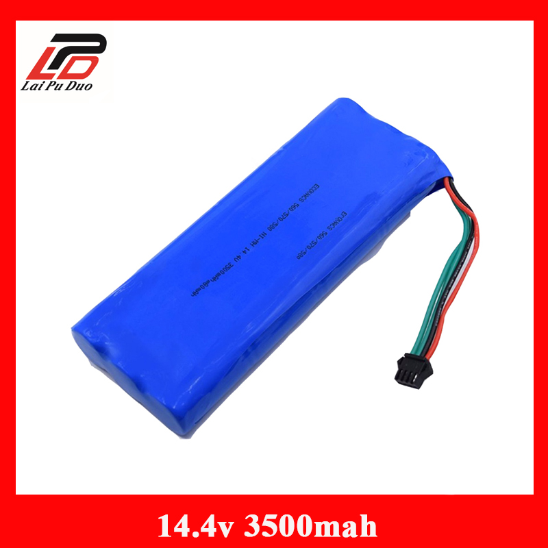 14.4 V 3500mAh NI-MH Rechargeable Battery For ECOVACS Deebot 540/550/560/570/580/D58/D56/D54 Vacuum Cleaner B 3500mah 14 4v cleaner battery for ecovacs deebot d54 deepoo d56 d58 with free side brush
