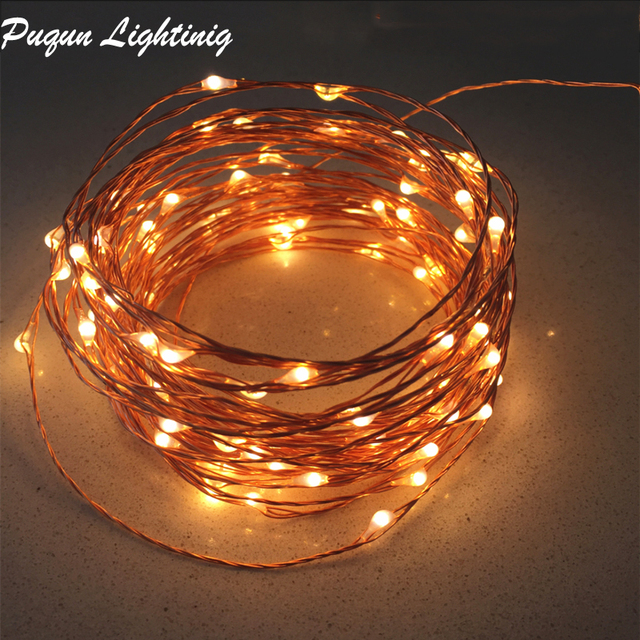 10M 20M 30M 50M copper led fairy string lights Christmas lights outdoor garden light for wedding party home indoor decoration