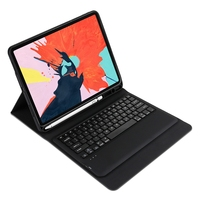 For Ipad Pro 12.9 Inch 3Rd Generation Bluetooth Keyboard Case Cover Stand (Black)