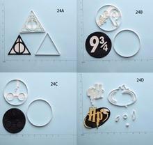 лучшая цена Harry Potter Deathly Hallows Series Custom Made 3D Printed Fondant Cookie Cutter Set