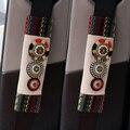 2 unids Personalidad Perlas Coche Asiento Cubierta del Cinturón de Seguridad Hombreras Ropa Suministro de Mei Mei Oso Bohemia Style Auto Interior accesorio