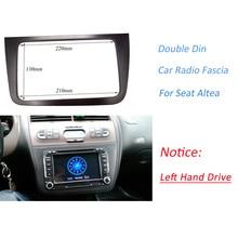 Envío gratis silver gray Coche LHD Fascia para Seat Altea MountingKit Radio Stereo Dash Recortar Audio Panel de Cubierta Del Bisel Facia adaptador