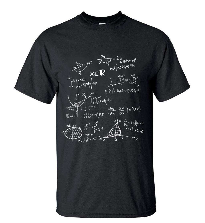 2016 new fashion men t shirt novetly mathematical formula for Single print t shirt