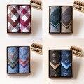 2 Unids/set 100% Pañuelos De Algodón Clásico de La Moda Patrón de Impresión Hombres Bussiness Pocket Square Handkrechiefs 15 Color 43*43 cm