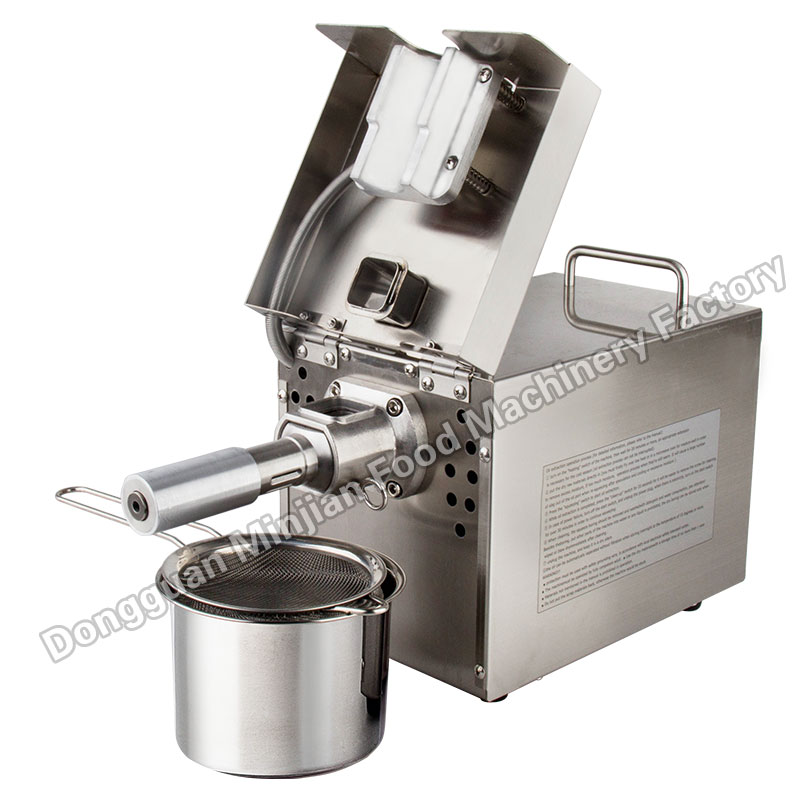 Hot selling seed oil extractor 110V/220V electric stainless steel mini hot cold peanut sesame soybean almond oil press T501 dl zyj05 oil press machine stainless all steel seed oil extractor hot cold press for peanut sesame flaxseed coconut cocoa