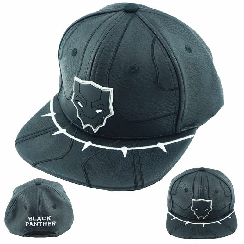 bfb51c5a950 Superhero Black Panther Hat Baseball Snapback Caps Adjustable Hip Hop Hats  For Adult Men Women Fashion
