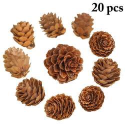 20PCS Wooden Natural Pinecone Christmas Tree Hanging DIY 3D Vivid Pine Cones Ornaments Party Christmas Decor Home Decors 2