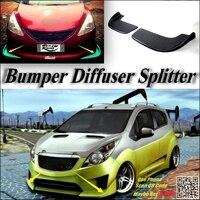 Splitter Difusor Pára Canard Lábio Para Chevrolet Matiz do carro Tuning Body Kit/Carro Defletor Frontal Retalho Queixo Fin Reduzir sintonia