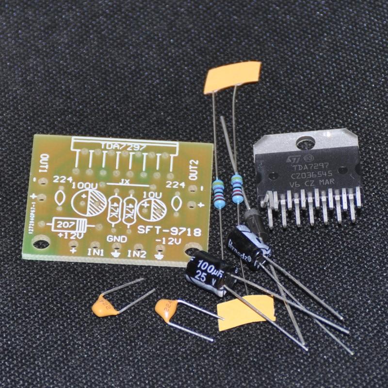 TDA7297 DIY KIT Version B 2X15W Amplificatore Stereo Digital Audio Amplifier Suite Trousse Module Board Dual-Channel Electro 12V