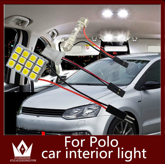 Guang Dian car led light Interior lamp Roof bulb Dome Panel Led Read door Trunk Light Luggage t10 festoon for VW polo 2003-2015 partol car roof rack cross bar roof luggage carrier roof rail anti theft lock 60kg 132lbs for 4 door car sedans suvs pickups