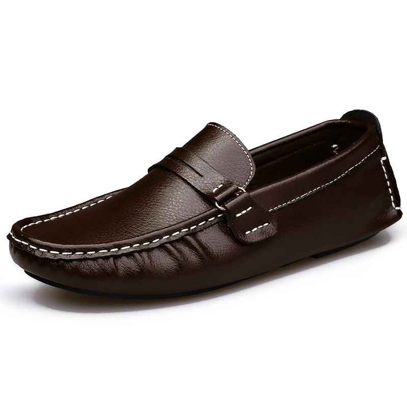 Image 5 - Big Size Men Loafers Shoes Leather 2020 Fashion Men casual Shoes Men Flats Slip On Plus Size 38 48 Mens Moccasins Flatsflats fashionflats menflats shoes men -
