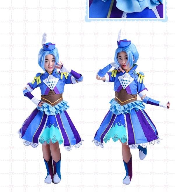 Hot Sale Anime Balala The Fairies Lanhui Cosplay Costume Cute Blue Girl Dress D anime balala the fairies duan xiaomin cosplay costume cute yellow girl dress d