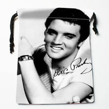 High quality Custom Elvis Presley printing storage bag drawstring bag gift Satin bags 27x35cm Compression Type Bags