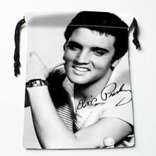 High quality Custom Elvis Presley printing storage bag drawstring bag gift Satin bags 27x35cm Compression Type
