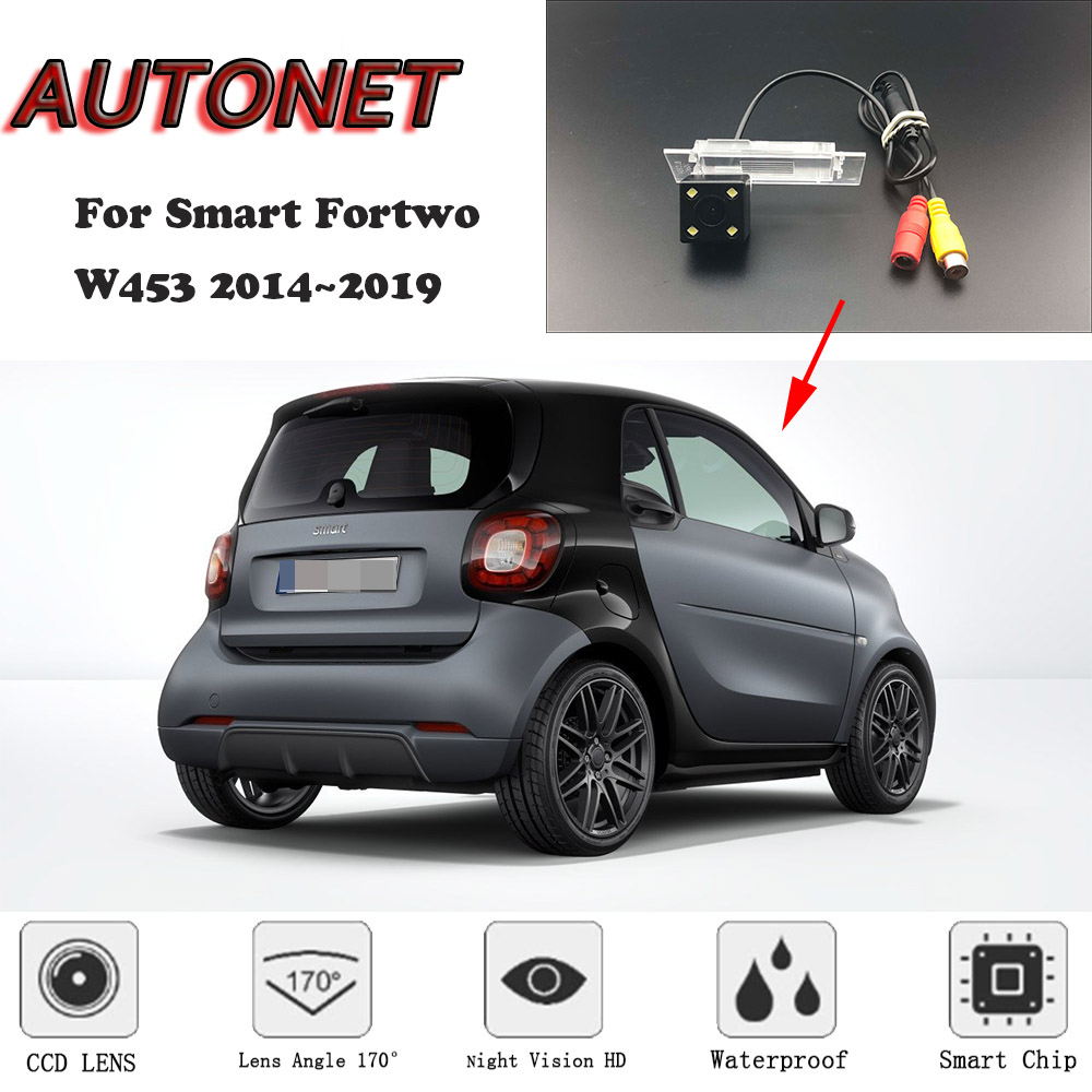 AUTONET Backup Rear View Camera For Smart Fortwo W453 2014 2015 2016 2017 2018 2019 Original Hole/license Plate Camera