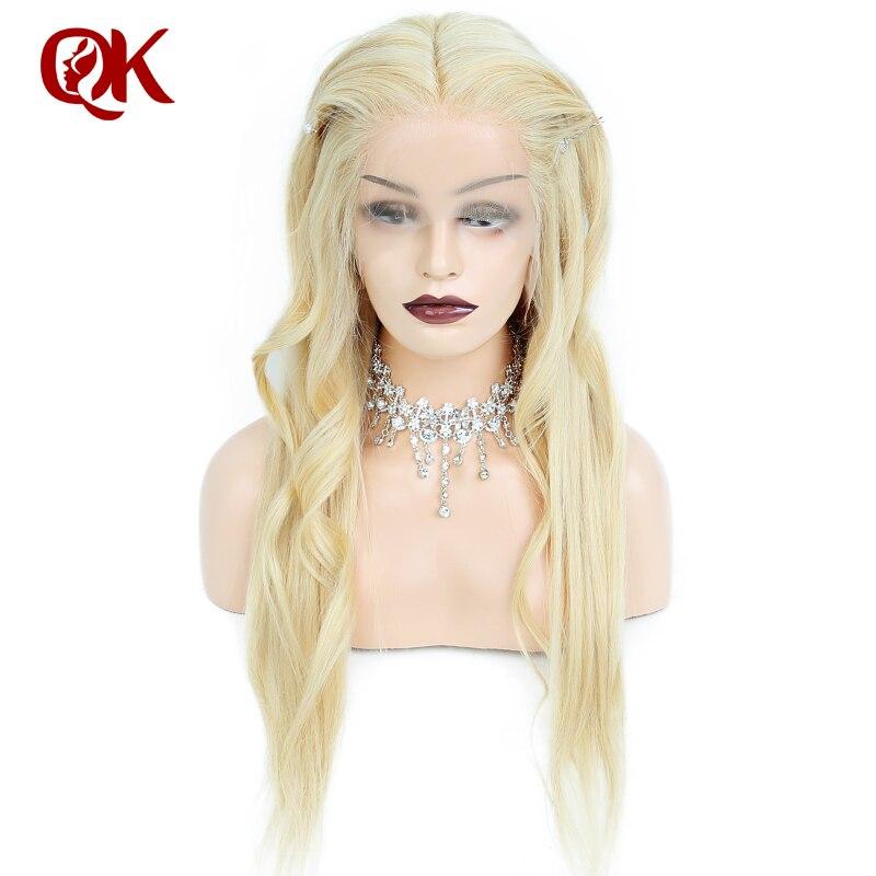 QueenKing cheveux Avant de Lacet Perruque 180% Densité Blonde 613 Soyeux Droite Preplucked Délié 100% Humains Brésiliens Remy Cheveux