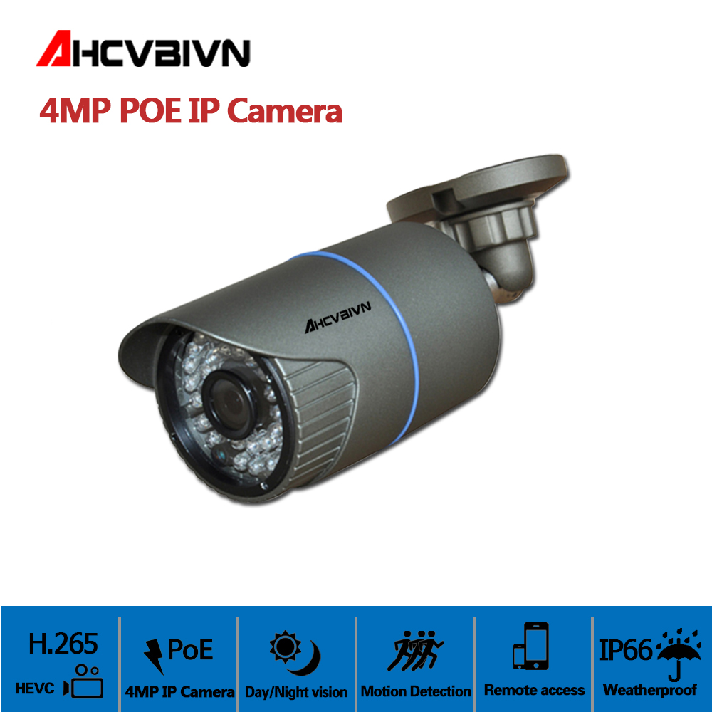 AHCVBIVN RJ-45 4MP PoE IP Camera 4MP HD AHD Indoor Outdoor Waterproof Infrared Night Vision Security Video SurveillanceAHCVBIVN RJ-45 4MP PoE IP Camera 4MP HD AHD Indoor Outdoor Waterproof Infrared Night Vision Security Video Surveillance