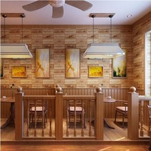 Beibehang Continental NOUS rural imitation bois étiquette de vin bar à vin motif fond d'écran TV station Restaurant Restaurant