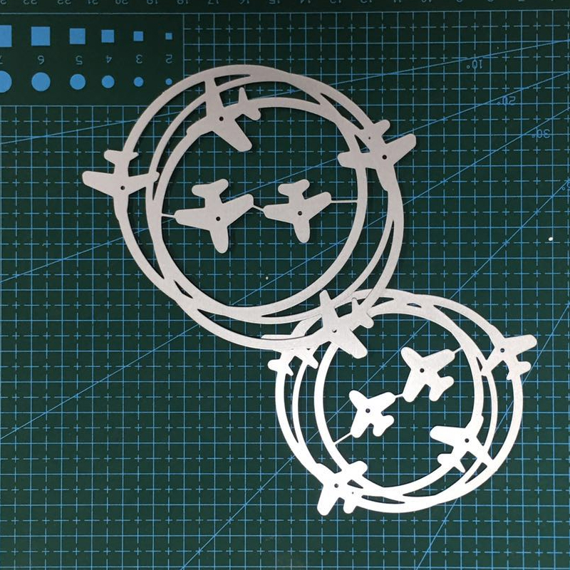 Airplaine Circles Metal Cutting Dies Stencil For Scrapbooking Album Photo Paper Cards Crafts Handmade New 2019 Die Cut Embossing in Cutting Dies from Home Garden