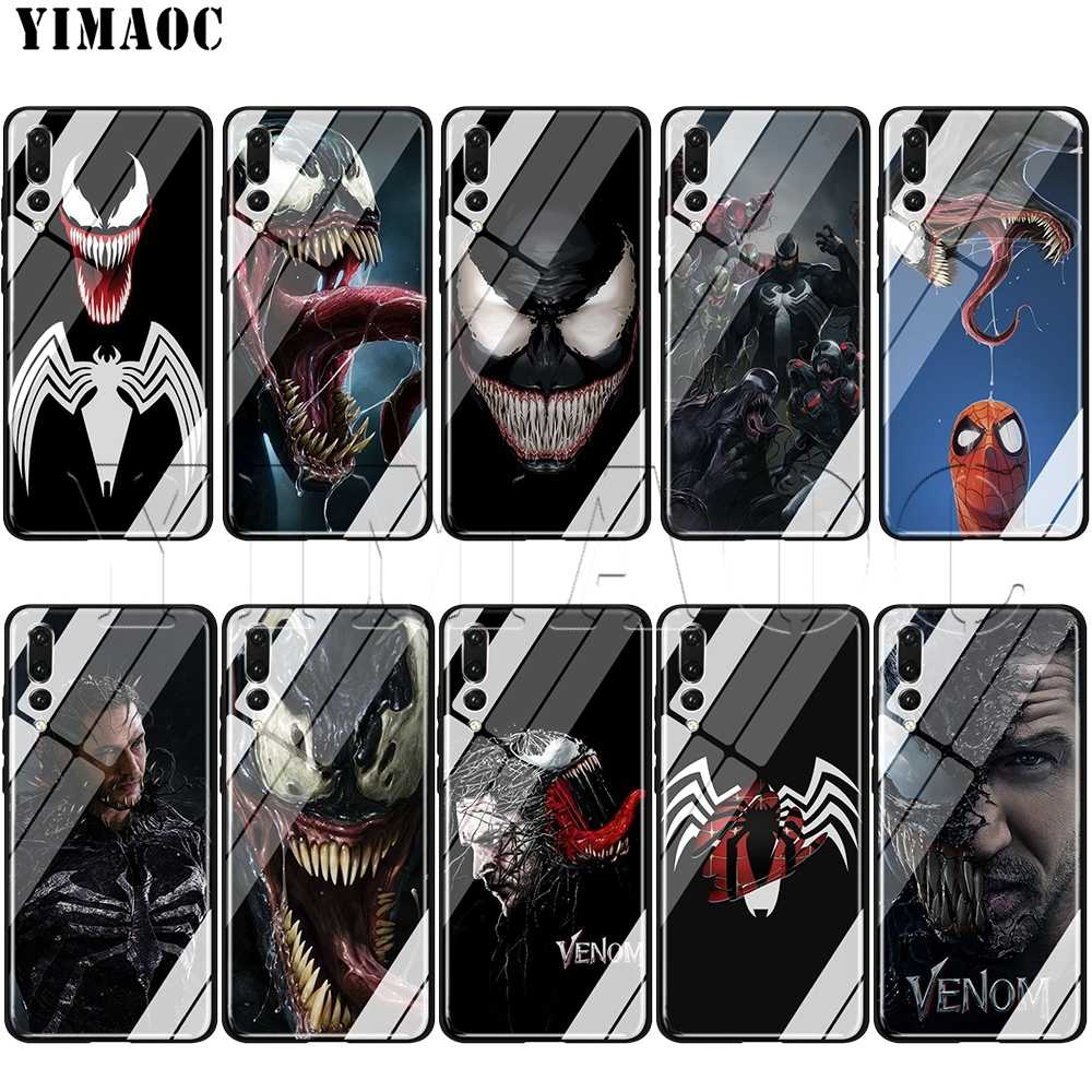 YIMAOC Venom Marvel  Glass Case for Huawei Honor Mate 7A 8X 9 P10 P20 P30 Y6 Y9 P smart lite Pro 2018 2019