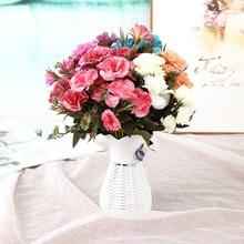 Klonca High-grade Handmade Silk Flower 30cm 1pc Fake Carnation Artificial Home Decoration Wall