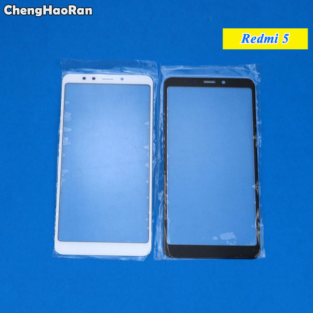 ChengHaoRan New Outer Top Screen Lens Front Glass For Xiaomi Redmi 5 / Redmi 5 Plus /Note 5 LCD Screen Replacement Touch Panel