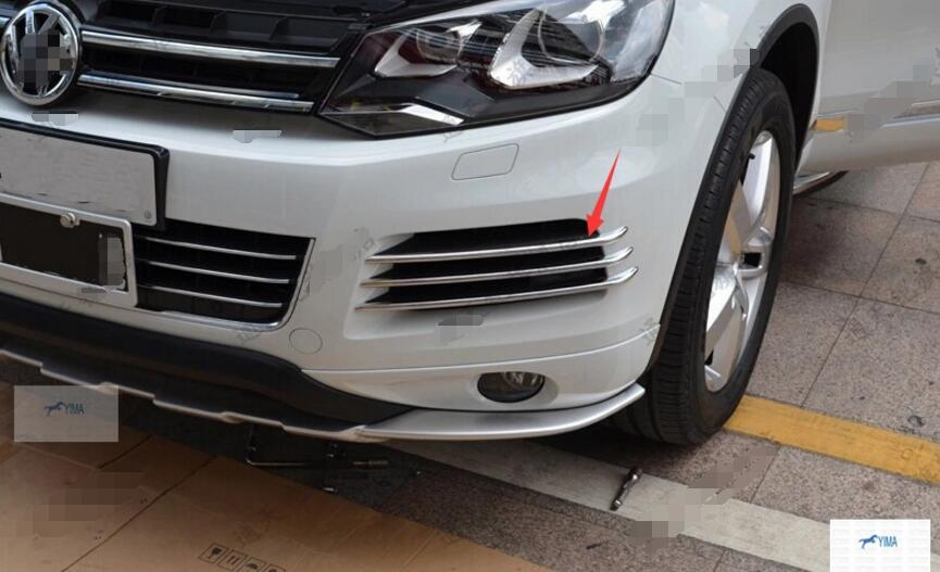More fashion ! For Volkswagon Touareg 2011 2012 2013 Front Fog Light Lamp side Grille Cover Trim
