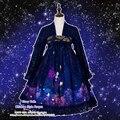 Старый Дождь Красивой Китайский Стиль Hanfu Dress RuQun Симпатичные Лолита Цветок Гортензии Фантазии Gorgerous Dress
