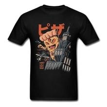 Pizza Fan Vintage Japan T Shirt Plus Size Custom Short Sleeve Mens T Shirts Fashion 2018 Top Lovers Cotton Men Shirts