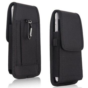 332899ef12f Cintura Holster funda para Samsung Galaxy S8 S9 Plus funda Nylon mosquetón  bolsa de cinturón Clip para Samsung S6 s7 borde S3 S4 S5