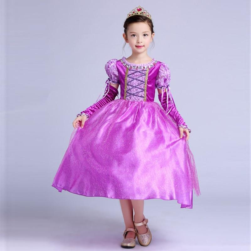 HTB1eU8YXhz1gK0jSZSgq6yvwpXaY Fancy Girl Princess Dresses Sleeping Beauty Jasmine Rapunzel Belle Ariel Cosplay Costume Elsa Anna Sofia Children Party Clothes