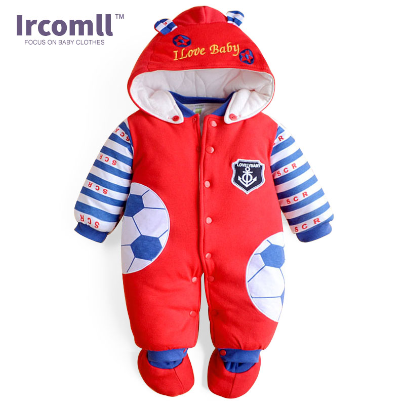 2017 Quality Jumpsuit Print Baby Rompers Warm Autumn Winter Boy Girl Newborn Children Clothes Kids Baby Clothing Suit Set 2017 denim romper newborn baby boy girl summer sleeveless pocket clothes toddler kids jumpsuit sunsuit children clothing outfits