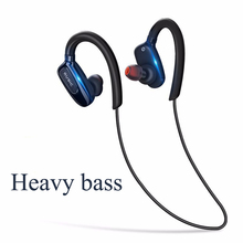 GIAUSA Bluetooth Headphones Magnetic Wireless Headphone Earbuds Neckband Sports Bass Bluetooth Earphone With Microphone tronsmart encore s2 bluetooth 4 1 neckband sports headphones