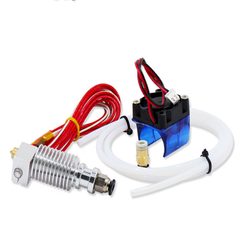 Kee Pang 3D Printer V6 Remote Print Head Extruder With Cable Tube And Cooling Fan Bracket J-head With Bowden Cooling Fan