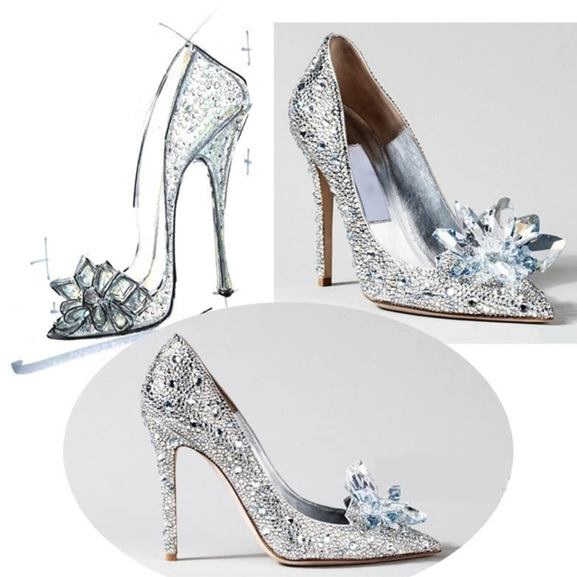 Women Shoes Decoration Crystal Luxury Women Clothes Charms DIY High Heels Sandals Pumps