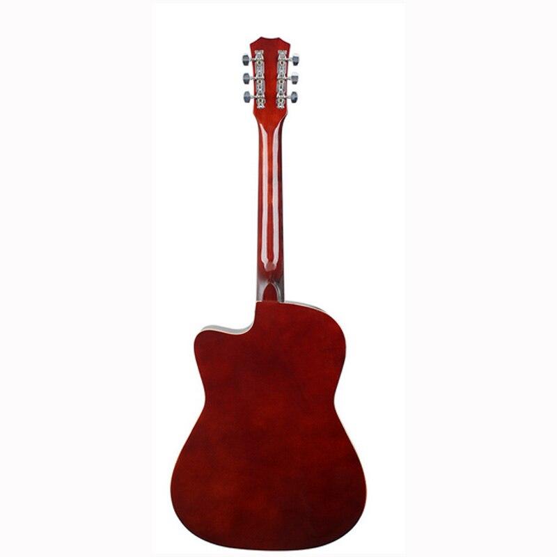 Guitare 38 pouces Basswood ballade tigre bleu rayures ballade débutant unisexe