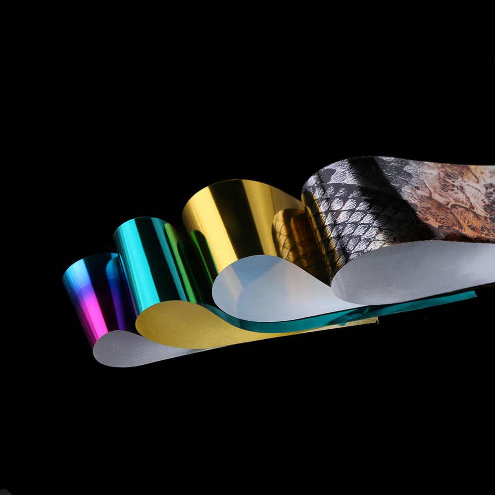 1 תיבת הולוגרפי לסכל סט 2.5*100 cm שקוף AB צבע יהלומי העברת מדבקת מניקור נייל אמנות מדבקות