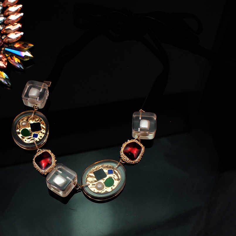 MANILAI ZA شفاف المعادن ستراند القلائد للنساء البوهيمي متعدد الألوان قلادة بيان القلائد هدايا الساخن