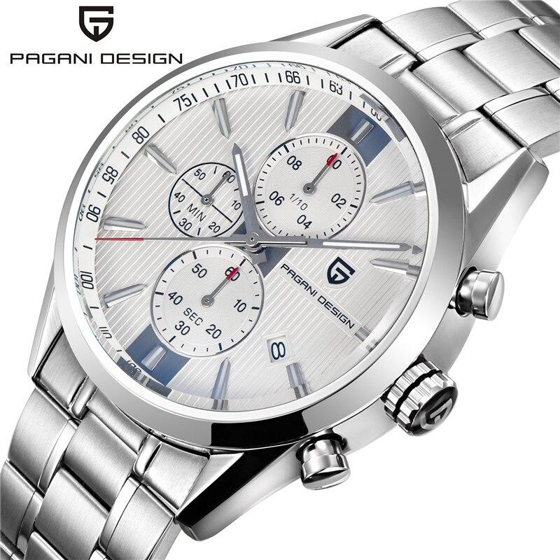 PAGANI DESIGN Luxury Brand Chronograph Business Watches Men Waterproof 30m Japanese Movement Quartz Watch Clock Men Reloj Hombre
