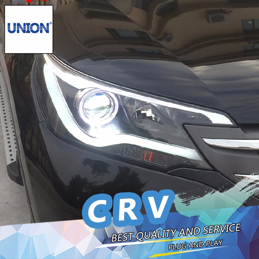 Car styling for honda crv headlights 2012 2014 for honda crv head lamp angel eye