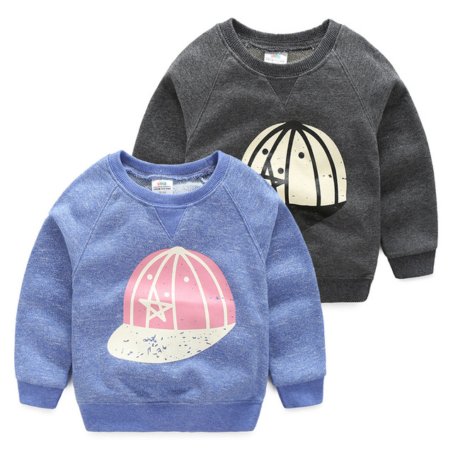 2017 spring baby boy print long sleeved sweatshirt child casual hoodies Kids casual  Top Clothes 2-10T children's clothing