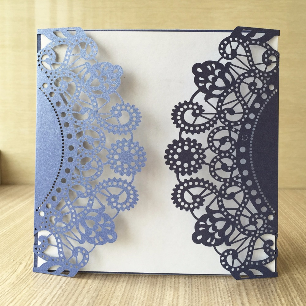 12pcslot Cheapest Hollow First Communion Invitation Card Laser Cut