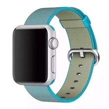 Lo nuevo tejido de Nylon Band para Apple venda de reloj de capas de tela pulsera de la muñeca de la correa correa de Metal hebilla clásica con adaptadores