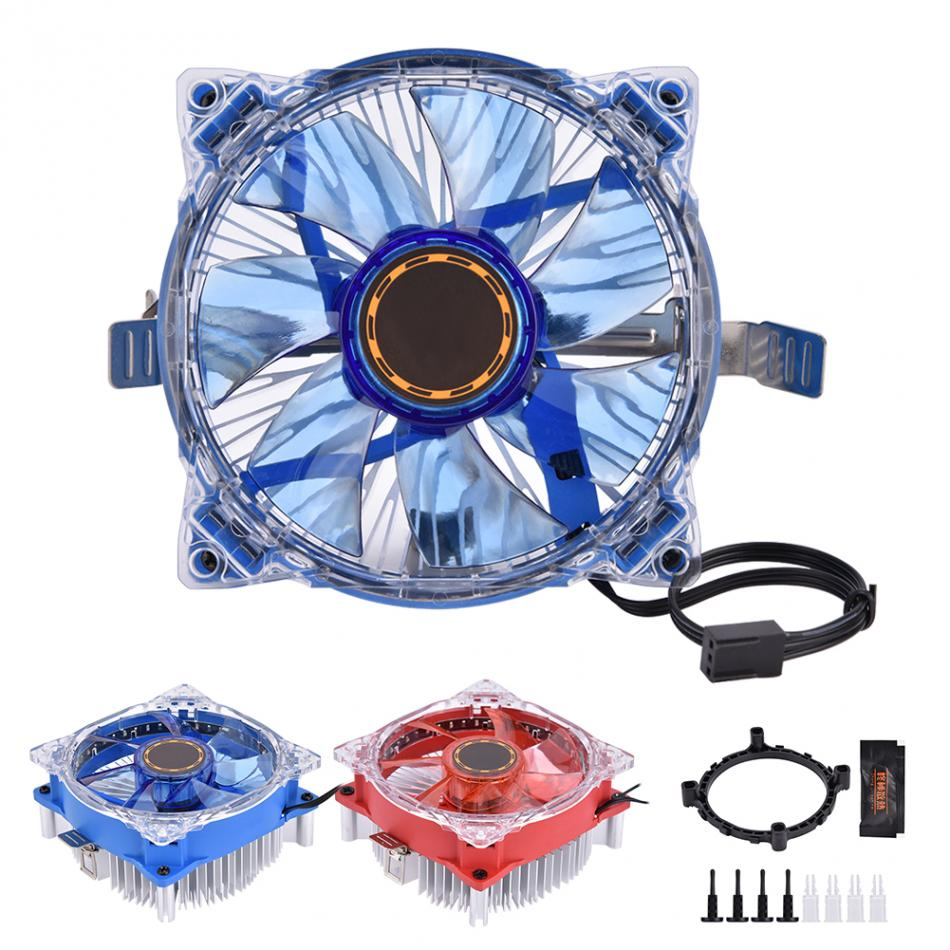 92 * 92 * 25mm 25 LED Lights Computer CPU Cooling Cooler Ultra-quiet Fan Heat Sink For Intel I3 I5 I7 AMD LGA775/1150/1151/1155 pcooler s90f 10cm 4 pin pwm cooling fan 4 copper heat pipes led cpu cooler cooling fan heat sink for intel lga775 for amd am2