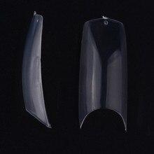 MAKARTT 100Packs Clear Natural U Shape Nail Tips Half Cover Acrylic UV Gel False Nails 10 Sizes Nail Salons DIY Nail Art A0018XX